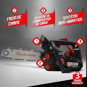 GARDEN TECHNIC –Motosega scoppio 61.5 cc - 55cm
