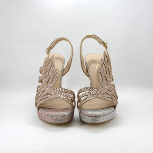 Sandalo cerimonia donna elegante con cristalli.