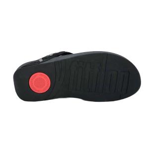 FitFlop - LOTTIE PATCHWORK TOE THONGS - BLACK