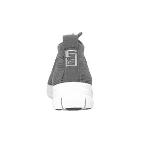 FitFlop - ÜBERKNIT TM SLIP-ON HIGH TOP SNEAKER - Charcoal/Metallic pewter