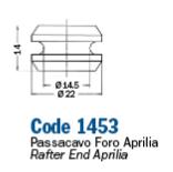 A1453 GOMMINO PASSA TUBO FRENO IDRAULICO MOTOCICLI SCOOTER