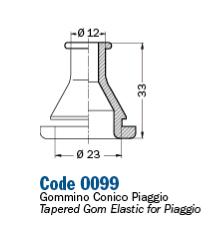 A0099 GOMMINO PASSA TUBO FRENO IDRAULICO SCOOTER PIAGGIO