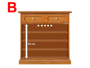 Lacquered sideboard/shoe rack