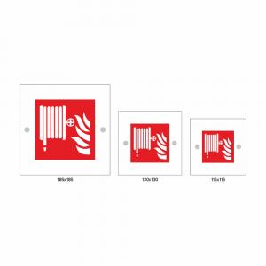 Cartello in plexiglass serie Plexline lancia antincendio