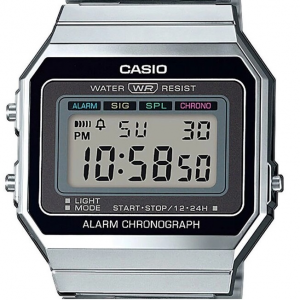 Casio Vintage digitale, silver - black
