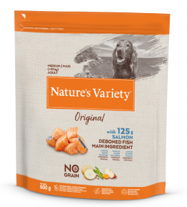 Nature's Variety - Original Dog - No Grain - Medium/Maxi - Adult - Salmone - 600 gr