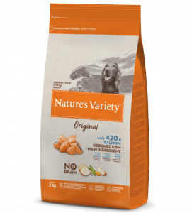 Nature's Variety - Original Dog - No Grain - Medium/Maxi - Adult - Salmone - 2 kg