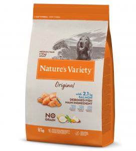 Nature's Variety - Original Dog - No Grain - Medium/Maxi - Adult - Salmone - 10 kg