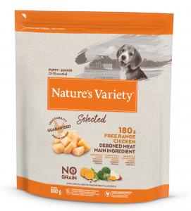 Nature's Variety - Selected Dog - No Grain - Junior - Pollo - 600 gr