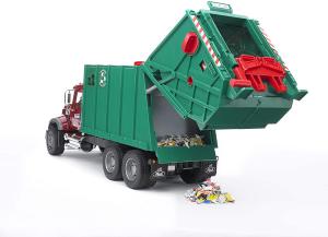 BRUDER - 02812 Camion MAC Granite Trasporto Rifiuti