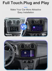 ANDROID autoradio navigatore per Renault Dacia Logan 2 Sandero CarPlay Android Auto GPS USB WI-FI Bluetooth 4G LTE