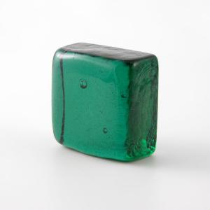 Blocco mini mattone in vetro verde trasparente
