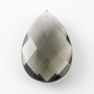 Mandorla in cristallo di Boemia altezza 75 mm colore Grigio lavorazione a rete