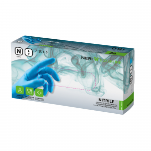 Guanti monouso NERI 100% Nitrile senza polvere Conf. 100 pz.