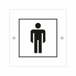Cartello in plexiglass serie Plexline Economy toilette