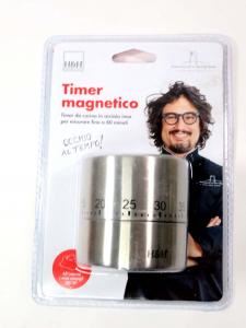 Timer orologio cucina in acciaio Borghese