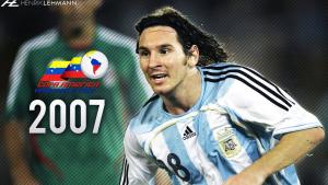 2007 Argentina Maglia M #18 Messi (Top)