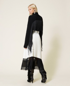 SHOPPING ON LINE TWINSET MILANO GONNA LUNGA PLISSE CON PIZZO NEW COLLECTION PREVIEW FALL WINTER 2022