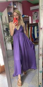 Vestito Lungo Scollo V 3 colori VICOLO