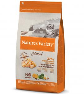 Nature's Variety - Selected Cat - No Grain - Sterilizzato - Pollo - 1.25 kg