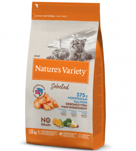 Nature's Variety - Selected Cat - No Grain - Adult - Salmone - 1.25 kg