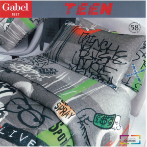 Set lenzuola 1 piazza e mezza Maxi Gabel TEEN Urban stampa digitale