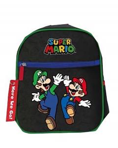 Zaino Super Mario asilo dimensione 28x25x10 cm colore nero 2021 2022-2