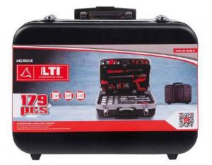 Set bussole e utensili manuali in valigia trolley 179 pz - Lti 64230304