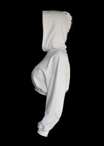 REFLEX WHITE  HOODIE - WOMAN