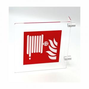 Cartello in plexiglass Plexline Bifacciale lancia antincendio