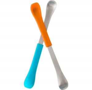 Swap cucchiaio pappa bambini 2 in 1 - Boon - Azzurro e arancio