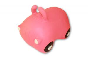 Cavalcabile gonfiabile macchina Happy Giampy Rosa