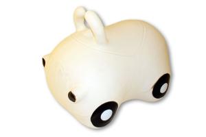Cavalcabile gonfiabile macchina Happy Giampy Bianco