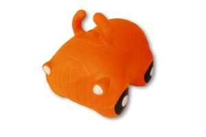 Cavalcabile gonfiabile macchina Happy Giampy Arancio