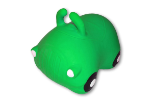 Cavalcabile gonfiabile macchina Happy Giampy Verde