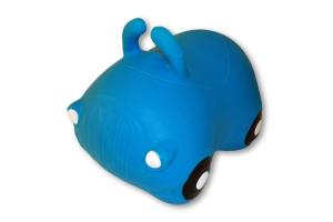 Cavalcabile gonfiabile macchina Happy Giampy Blu