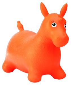 Cavalcabile gonfiabile cavallo Happy Giampy Arancione
