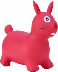 Cavalcabile gonfiabile coniglio Happy Giampy Rosso