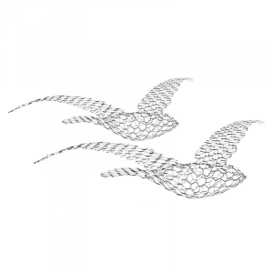Scultura in rete metallica Birds, Magis