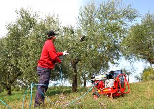 Pettine Abbacchiatore Pneumatico raccolta olive LISAM MG Magnesium Asta Esclusa