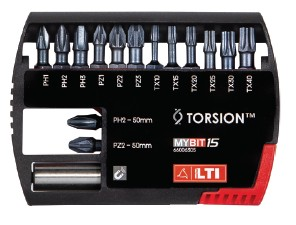 Set inserti per avvitatori TORSION MYBIT15 Lti 66006305
