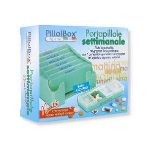 PILLOLBOX CONTENITORE SETTIMANALE 7GG PILLOLE BASE AZZURRA