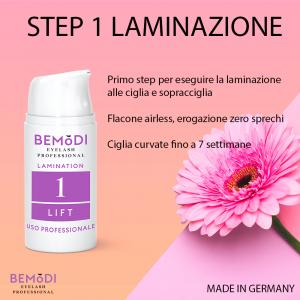 Step 1 (aggiornato) Laminazione Ciglia e Sopracciglia, 30 ml, BeModi