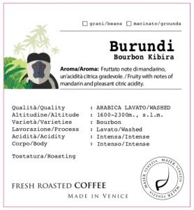 Burundi Burbon Kibira  -  250gr