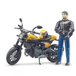 BRUDER - DUCATI SCRAMBLER Moto + Pilota 63053