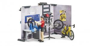 BRUDER - Punto Vendita Assistenza Bici + Bici + Personaggio 63120