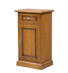 Entryway small cabinet 1 drawer 1 door in wood