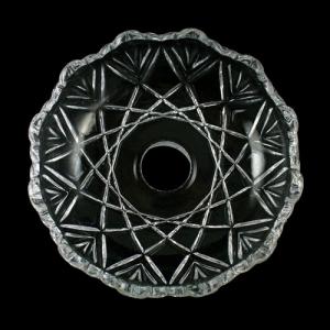 Bobeche lampadari Vetro veneziano Ø12 cm, foro Ø24 mm, NO fori laterali