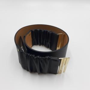 Cintura in pelle nera alta Atos Lombardini