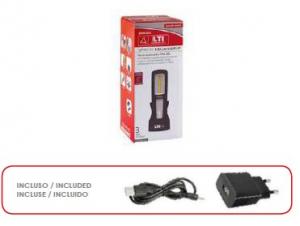 Lampada COB LED ricaricabile con base Lti 65981025